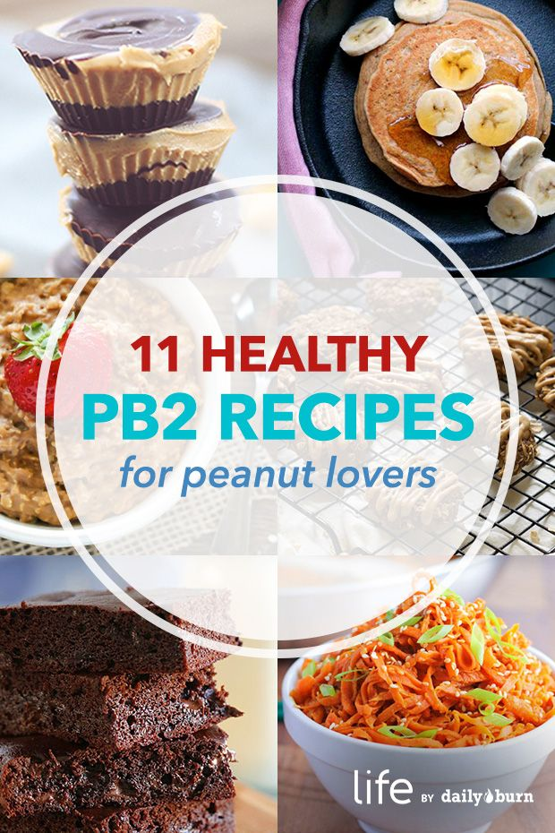 11 Healthy PB2 Recipes for Peanut Butter Lovers via @dailyburn