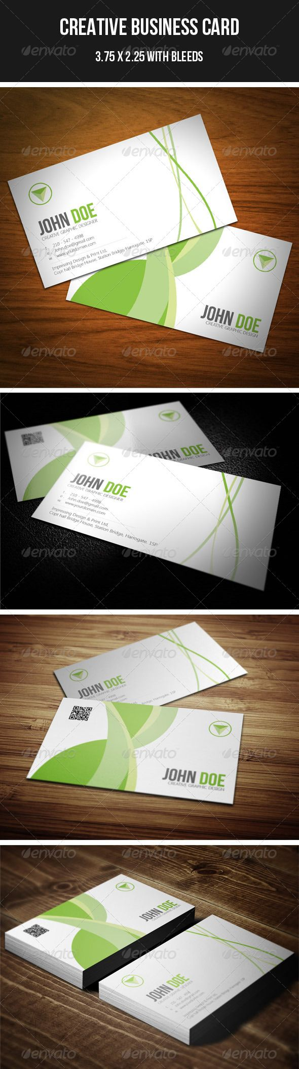 9 best eco business cards images on pinterest business cards creative green business card 41 reheart Choice Image