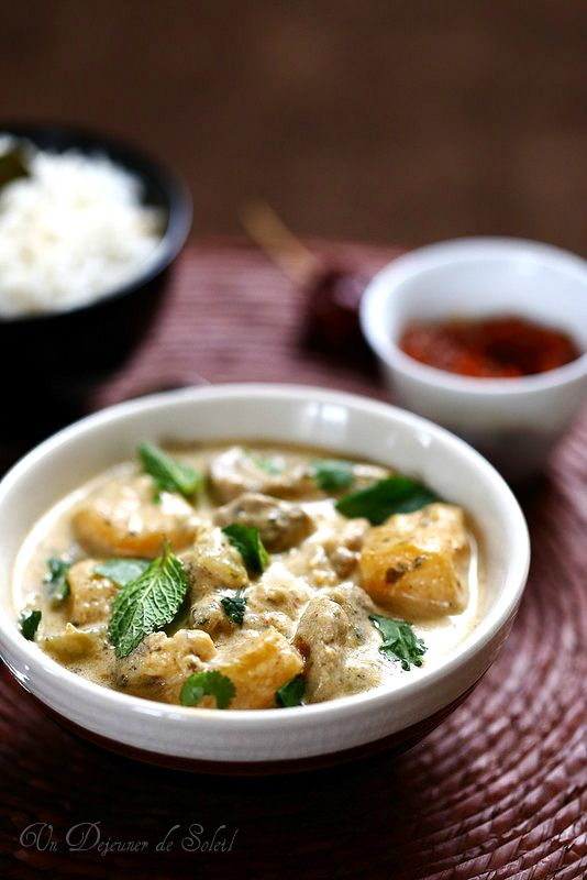 Curry thaï de porc aux navets boule d'or