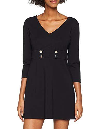 4f2f609e33dc Guess Abito IRMINA Dress Vestito Donna Nero (Jet Black A996 Jblk) Large  (Taglia Produttore L)