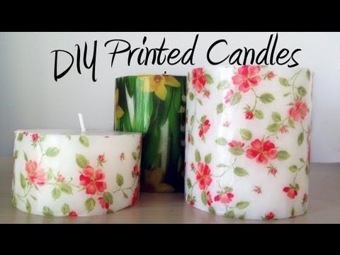 DIY tutorial: Decorate candles with paper napkins / Decorar velas con servilletas de papel