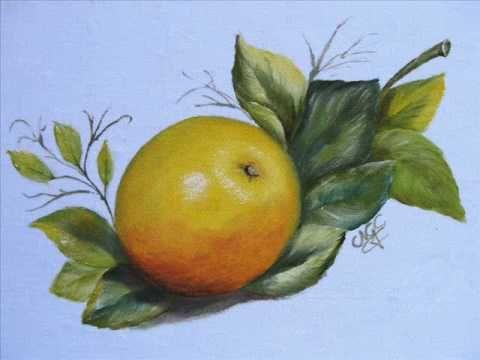 pintura em tecido - Como pintar laranja