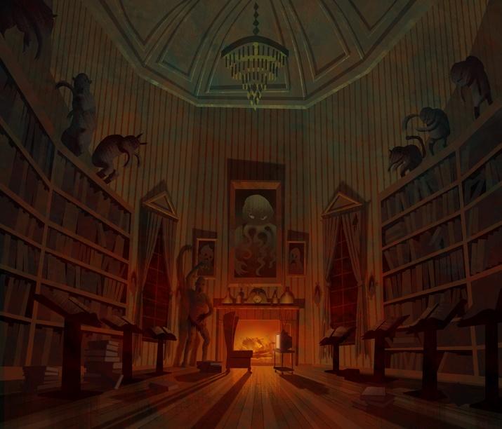 Stephen Nicodemus: More Scooby Doo Mystery Inc Background Art Shrieking Madness