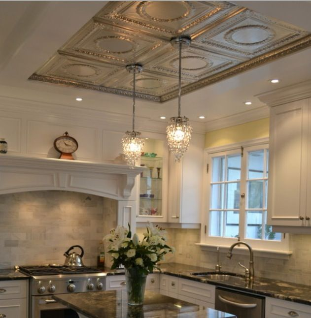 25 best images about pressed tin on pinterest hearth kitchen ceilings and tin tiles - Wondrous kitchen ceiling designs ...