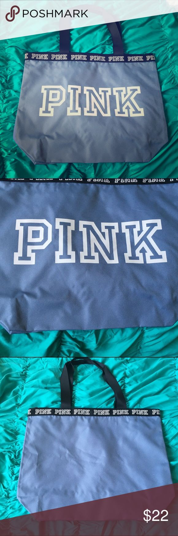 Vs pink tote bag Brand new light blue and white tote bag from pink PINK Victoria's Secret Bags Totes