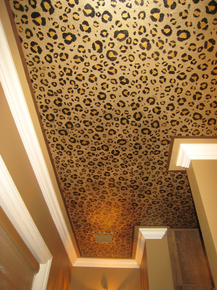 Leopard Ceiling-- for my future bachelorette pad. Hahaha