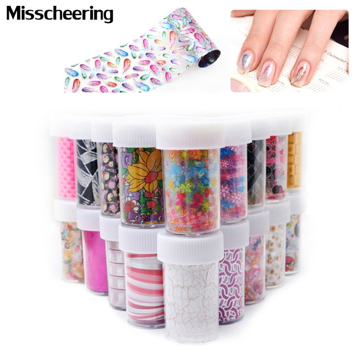 6 stks/set Nail Art Transfer Folie Rollen 50 Ontwerpen Bloemen Lace Nail Sticker Decoratie Decals Styling Craft Manicure Nail Gereedschap