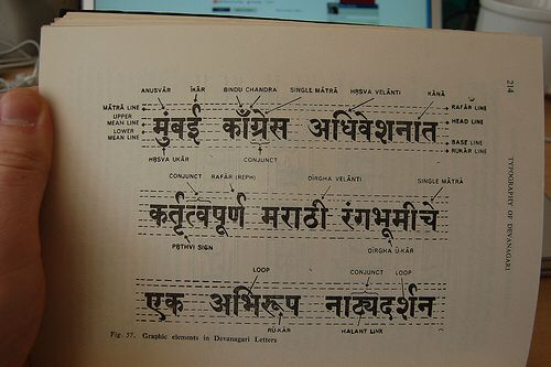 Hindi lines for calligraphy