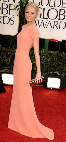 Emma Stone, Golden Globe Awards 2011 | Emma Stone Although we barely recognized her at first (is that you, Kate Bosworth?), Stone's daringly different Calvin Klein Collection gown was mod perfection.