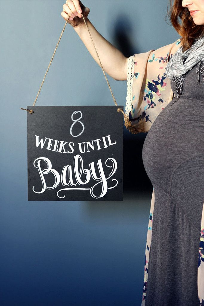 Slate the Date: The Countdown to Baby Chalkboard $45