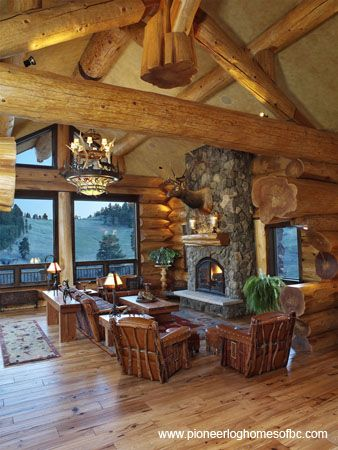 log home 2014 | ... log home. Built by Pioneer, this hand crafted log home is a show