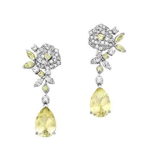 @Who What Wear - Play up the femininity of these sparkly earrings with a long floral-print dress.  Rose Passion High Jewelry