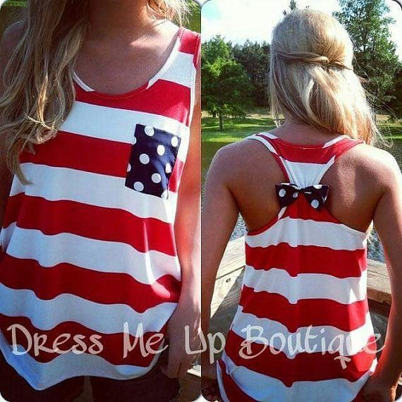 Hey, I found this really awesome Etsy listing at https://www.etsy.com/listing/234007716/4th-of-july-bow-back-tank-top