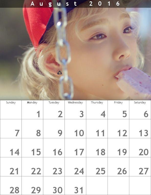 テヨンWhy!?カレンダー 1608 ✐ 800×1035 - Taeyeon Soft Cream Album ☺ Snsd #taeyeon #snsd #taeyeoncalendar