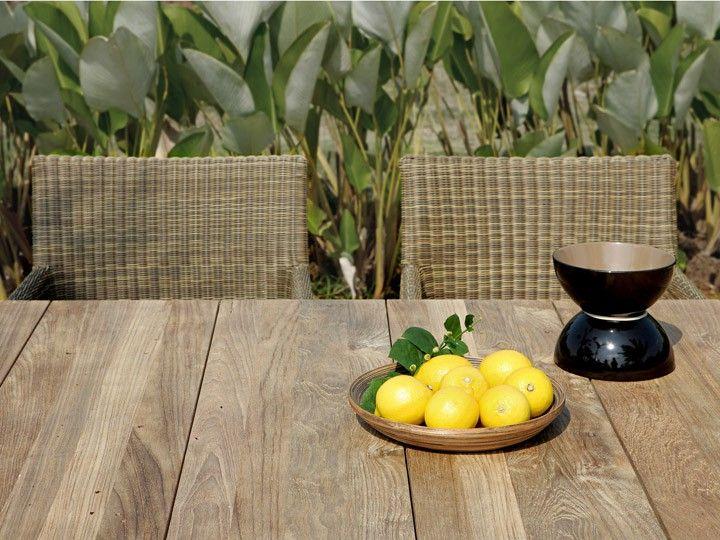 Ideal https daswohnkonzept gartenmoebel sitzen essen gartentische eckige tische naxos garten esstisch x zebra edelstahl teak recycelt c ud Garten