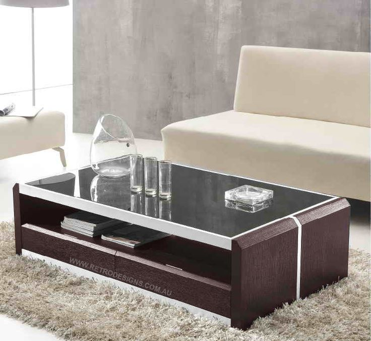 silver glass living room furniture%0A Bailey Coffee Table With Glass Top  u     Drawers      The Bailey coffee table  is balanced with