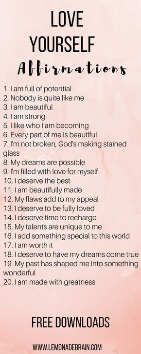 Affirmations for a better day Affirmations for a better day! Affirmations can be life changing.