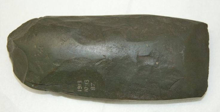 Axe-head made of stone. Africa,Nigeria,Kano State  Height: 12.5 centimetresWidth: 5.31 centimetresDepth: 2.62 centimetres