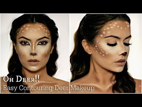 Easy Deer Makeup Tutorial   Halloween 2016 - Lets Learn Makeup