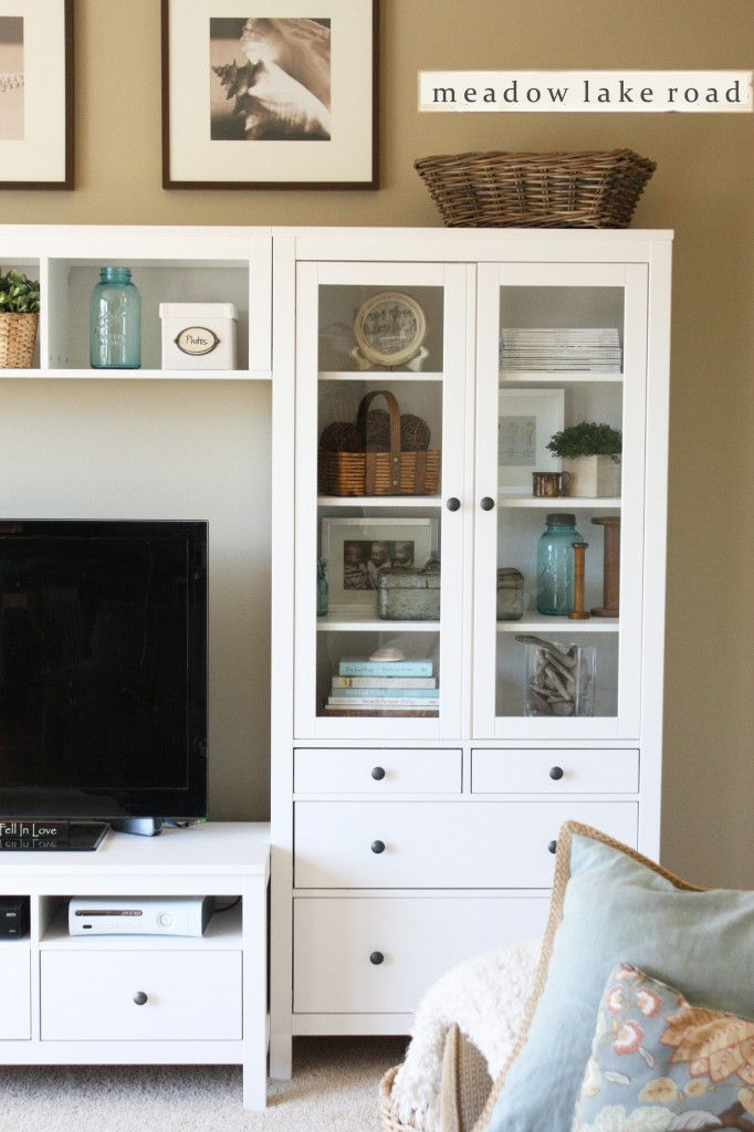 Hemnes Tv Stand Accessorized White Entertainment Center | Entertainment