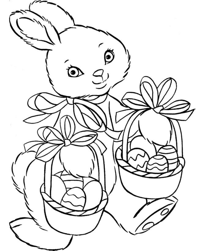 Free Printable Easter Basket Coloring Pages Are Fun