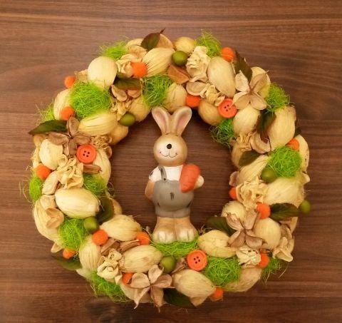 húsvéti nyúlas ajtódísz
