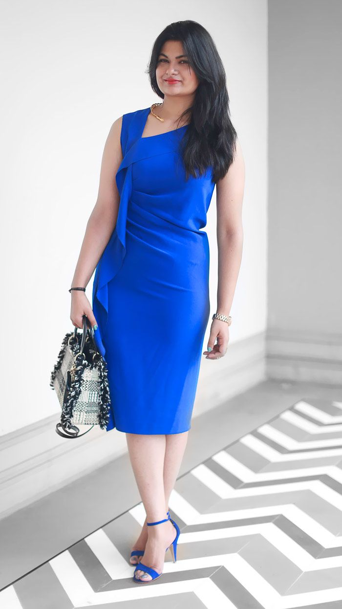 royal blue dress / Joseph