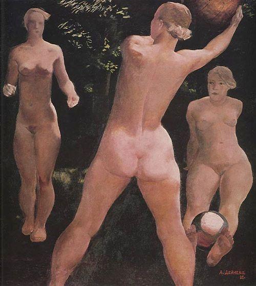 Александр Дейнека. Игра в мяч. 1932.
