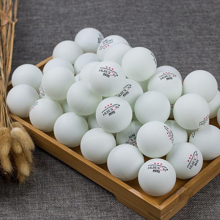 NEW 100Pcs standar  3-Stars 40mm  Advanced Training Table Tennis Balls Ping pong Ball White free shipping