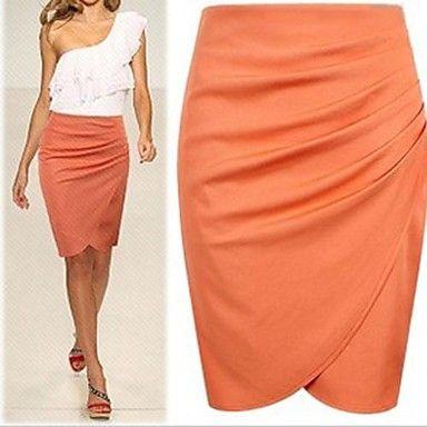 Mujeres Traje Nuevo Negocio lápiz de la manera de la falda del verano / otoño OL faldas para las mujeres la rodilla – USD $ 20.29