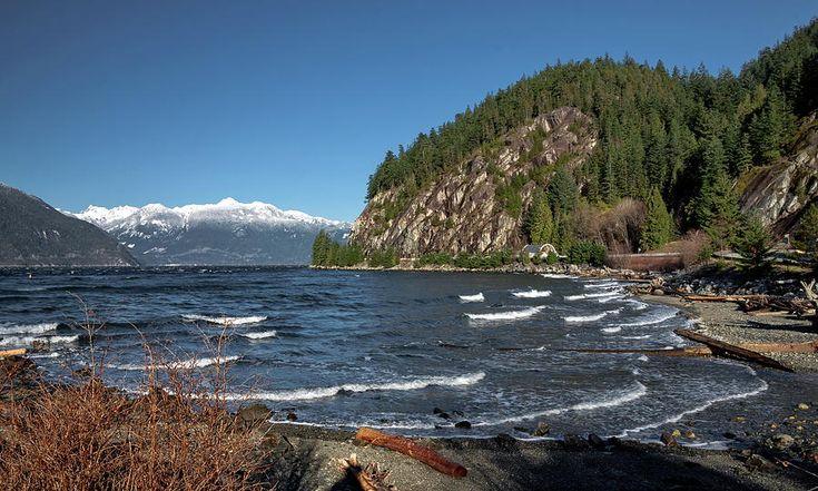Sea Photograph - Porteau Cove Provincial Park  by Alex Lyubar  #AlexLyubarFineArtPhotography #VancouverCanada #PorteauCoveProvincialPark #ArtForHome #FineArtPrint
