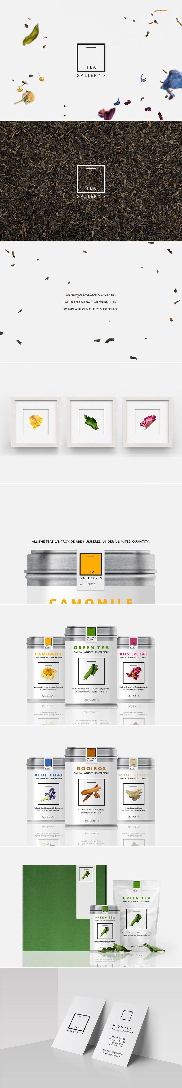[ Tea Gallery's ] [ Credit: Hyun Sul ] [ Graphic Design, Identity Design, Logo Design, Package Design, Art Direction, Branding ]