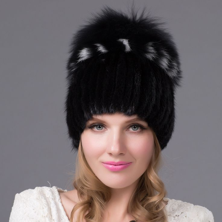 Foreign trade explosion models in Europe and America in winter knit hat fashion warm mink mink hat lady ear cap #>=#>=#>=#>=#> Click on the pin to check out discount price, color, size, shipping, etc. Save and like it!