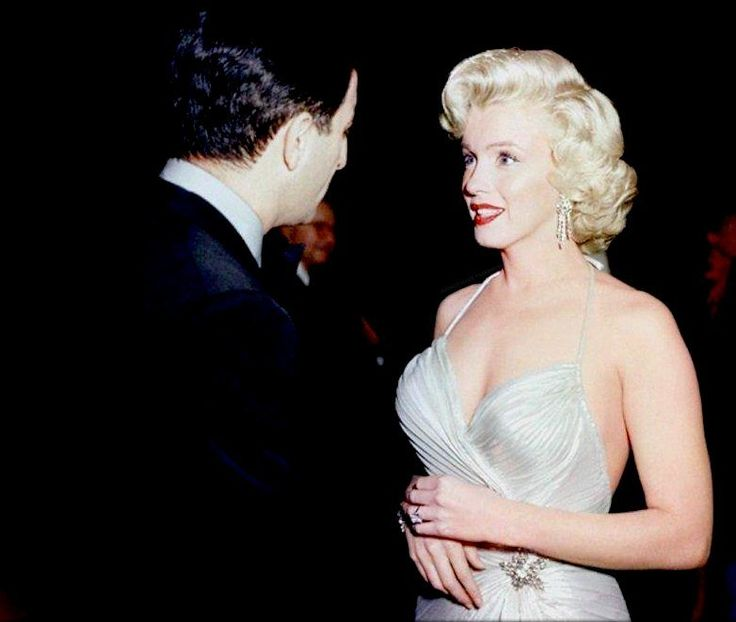 """Marilyn Monroe at a charity event, 1953. """
