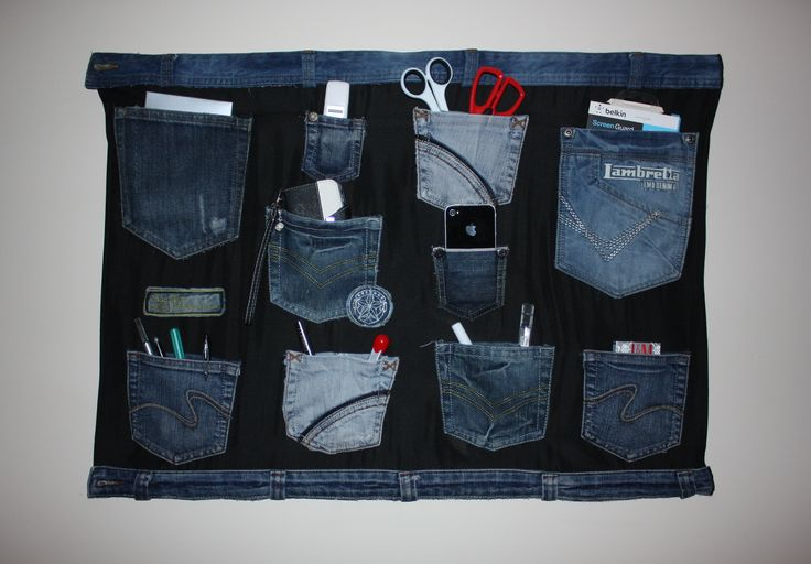 denim wall organizer