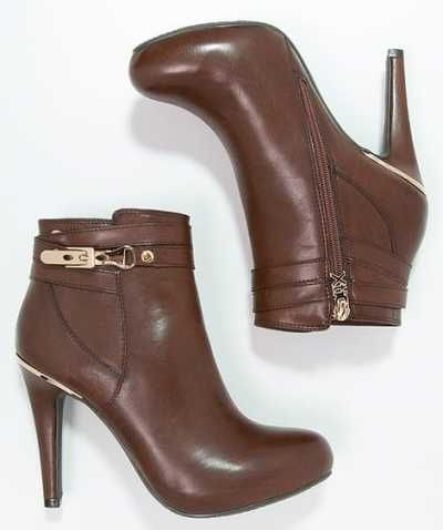 Xti Botines Bajos Brown botas y botines Xti brown Botines bajos Noe.Moda
