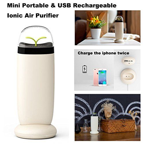 wellvo new mini portable ionic air purifier usb small quiet car air cleaner for travel livingroom home camping remove smoke u0026 bad odors