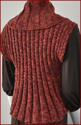 Cotton Twirl Woman's Shrug - free knit shrug pattern