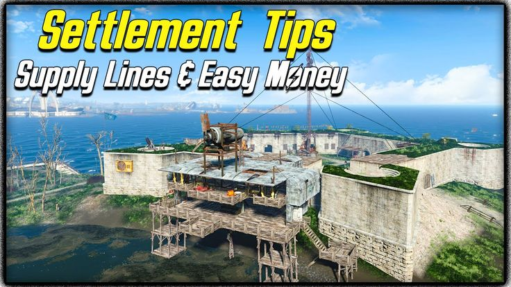 Fallout 4 Settlement Tips #2 - SUPPLY LINES EXPLAINED, BEST & EASIEST MO...