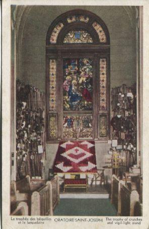 Unknown Canadian Publisher Postcard - Oratoire Saint-Joseph The trophy of crutches and vigil-light stand, le trophée des