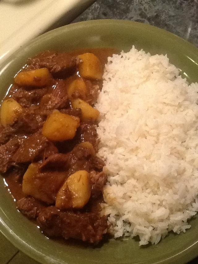 Serve with some white rice,a side of green beans and your good to go. Enjoy!!