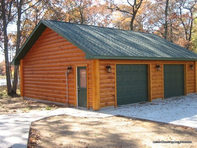 1000 images about home wooded cabin vinyl siding on for Log cabin garages for sale