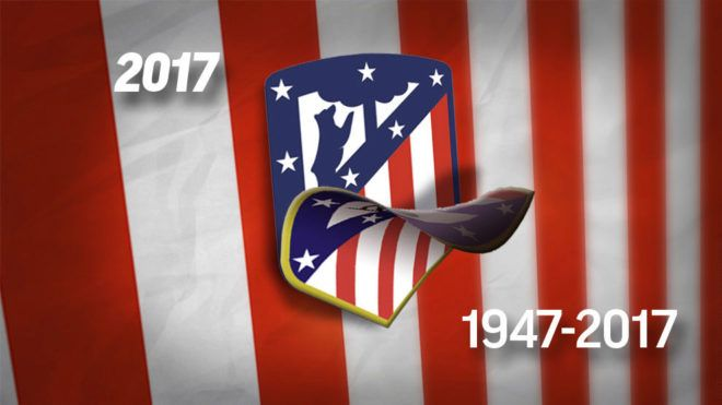 Atlético de Madrid: El Atlético ya luce su nuevo escudo | Marca.com http://www.marca.com/futbol/atletico/2017/06/30/59567ea8e2704e2b718b45ca.html