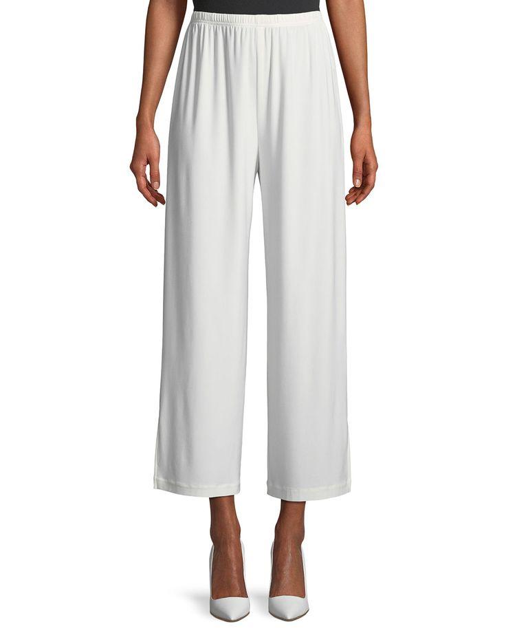CAROLINE ROSE WIDE-LEG ANKLE PANTS, PLUS SIZE. #carolinerose #cloth #