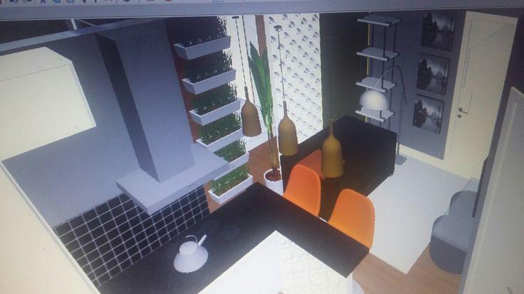 Projeto de interiores apto pequeno