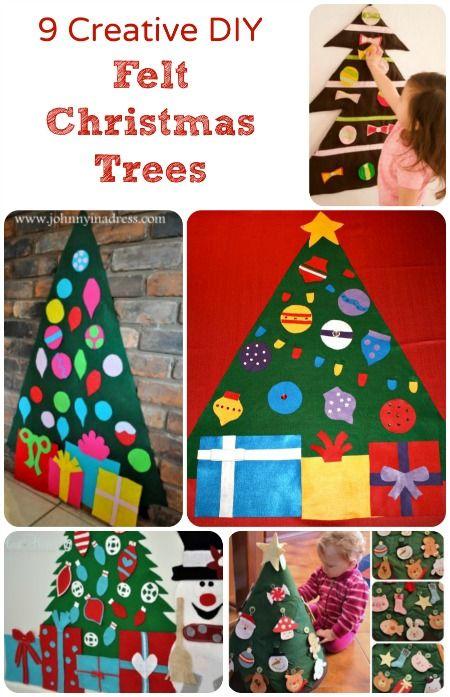 family handprint christmas tree with felt - Google Search