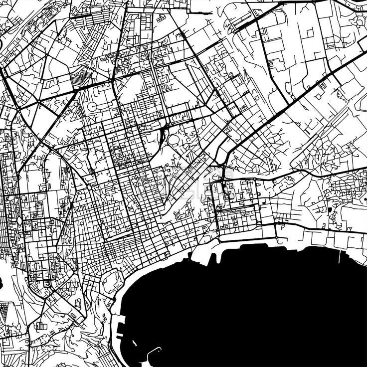 Baku Azerbaijan Vector Map by Hebstreits #stockimage #drawing #sketch #travel #pen #download #digital #vector #art
