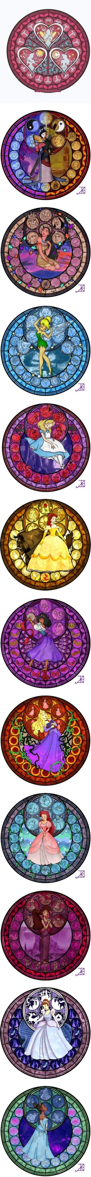 """""""Disney princess stained glass"""" by shygirl1229 ❤ liked on Polyvore"""