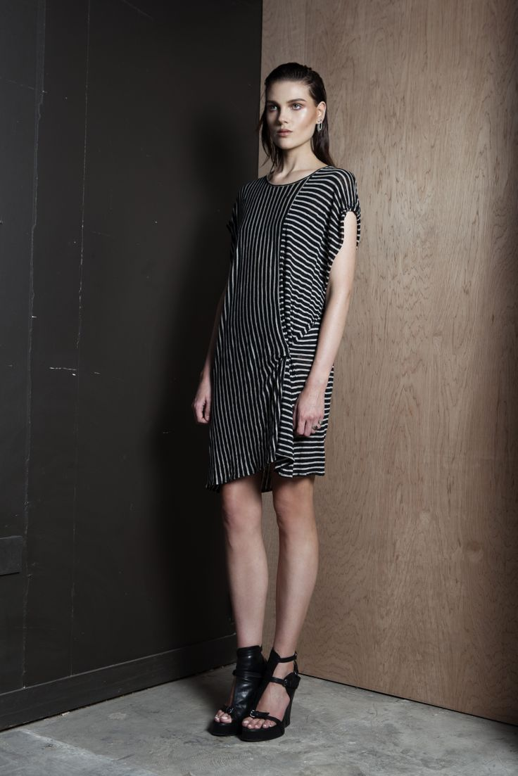 Objectivity Tunic  #knit #oversized #stripe #dress #companyofstrangers