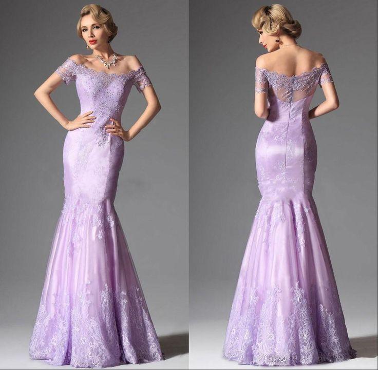 2015 New Elegant Full Long Sleeves Mermaid Wedding Dresses: Free Shipping, $115.19/Piece:buy Wholesale Light Purple